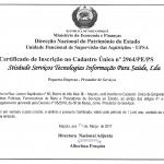 STISAUDE UFSA Certificado